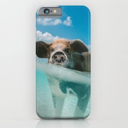 Pig in water iPhone Case