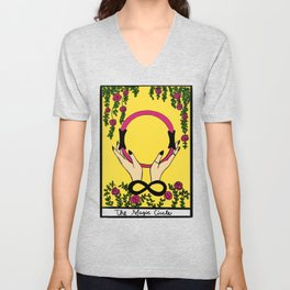 The Magician Tarot Pilates  Unisex V-Neck