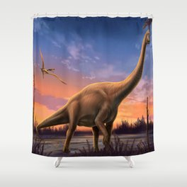 Jurassic Dinosaurs Shower Curtain