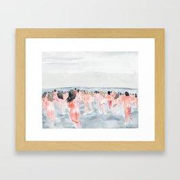 Skinny Dip Run Framed Art Print
