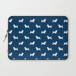 Cairn Terrier dog breed navy and white dog pattern pet dog lover minimal Laptop Sleeve