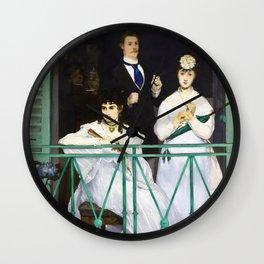 Edouard Manet - The Balcony - Digital Remastered Edition Wall Clock