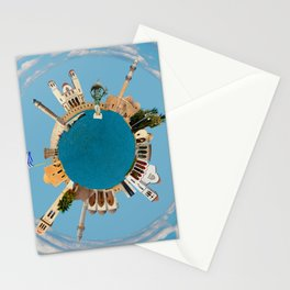 Rethymno little planet Stationery Cards