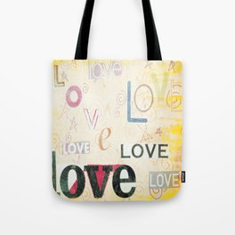 Yellow Lover Vintage Stationery Tote Bag