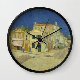 The Yellow House by Vincent van Gogh Wall Clock