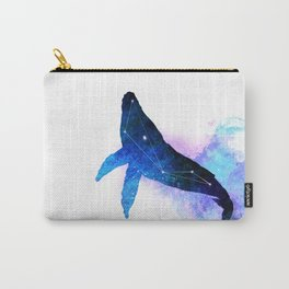 Space Whale | Whale Constellation | Double Exposure Whale Carry-All Pouch