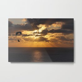Gliding Sunset Metal Print