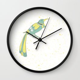 New Zealand Native Birds - Tui Wall Clock