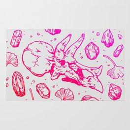 Triceratops Rocks! | Fiery Pink Ombré Rug