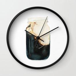 Iced Coffee in Mason Jar Wall Clock