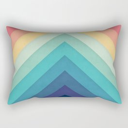 Retro Chevrons 002 Rectangular Pillow