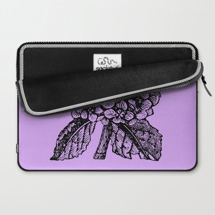 Lavender Hydrangea Laptop Sleeve