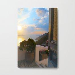 Romantic Santorini Metal Print