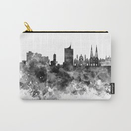 Vienna skyline in black watercolor Carry-All Pouch