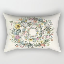 Circle of Life Cream Rectangular Pillow