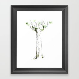 THREE KIWIS BEHIND A KAURI TREE Framed Art Print