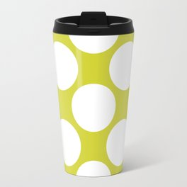 Polka Dots Green Travel Mug