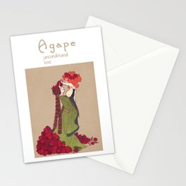 the four loves - agape Stationery Cards
