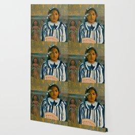 "Paul Gauguin ""The Ancestors of Tehamana OR Tehamana Has Many Parents (Merahi metua no Tehamana)"" Wallpaper"
