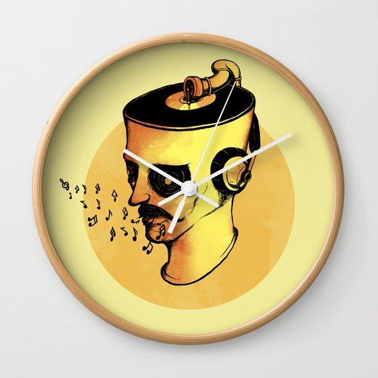 Record Player - ANALOG zine Wall Clock