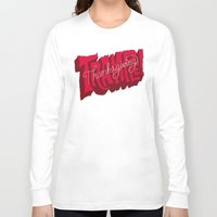 thanksgiving Long Sleeve T-shirts featuring Thanksgiving and Black Friday by Chris Piascik