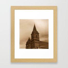 Stormy Church Framed Art Print