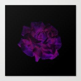 Ultra Violet Velvet Rose loves Black Canvas Print