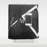 artsy Shower Curtains featuring Artsy by Patrick K