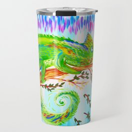 Chameleon and Butterfly Travel Mug