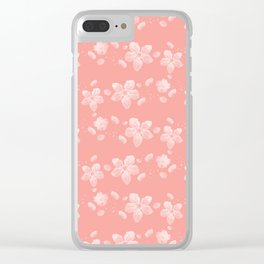 Sakura Pattern Clear iPhone Case