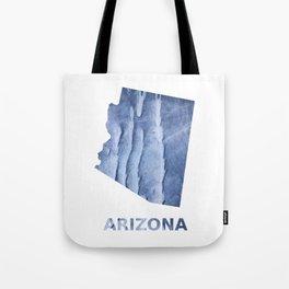 Arizona map outline Blue watercolor Tote Bag