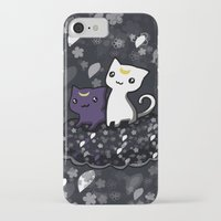 sailormoon iPhone & iPod Cases featuring Sailormoon Luna and Artemis by Mayying