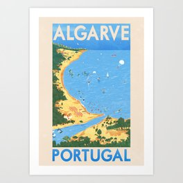 Travel Posters - Algarve Art Print
