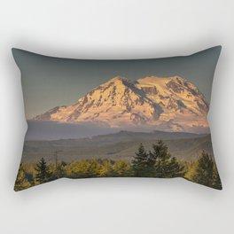 Sunset at Rainier Rectangular Pillow