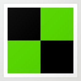 Big mosaic green black Art Print