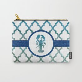 Lobster: Tropical Water Moroccan Pattern Carry-All Pouch