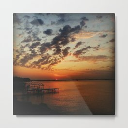 Lakeside Sunset  Metal Print