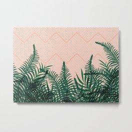 Tropical Ferns on Pink #society6 #decor #buyart Metal Print