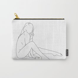 Nude life drawing figure - Bret Carry-All Pouch