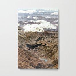 Atacama from airplane Metal Print