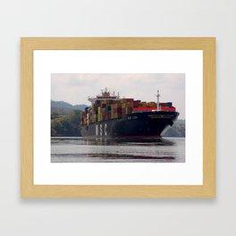 Cargo ship Framed Art Print