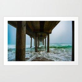 Murky Dreams - HB Pier 2016 Art Print