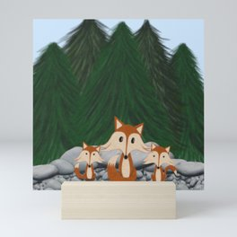 The Fox Family Mini Art Print