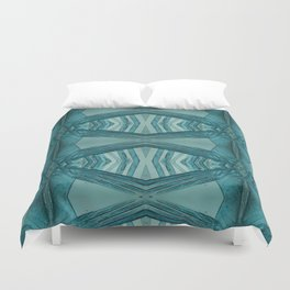 Copper Nitrate Crystals Duvet Cover