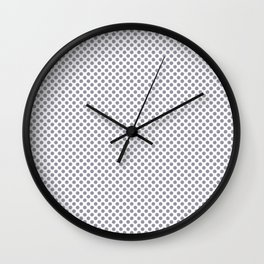 Lilac Gray Polka Dots Wall Clock