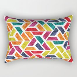 Seamless Colorful Geometric Pattern XII Rectangular Pillow