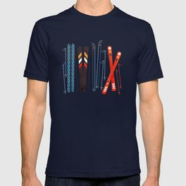 Retro Ski Illustration T-shirt