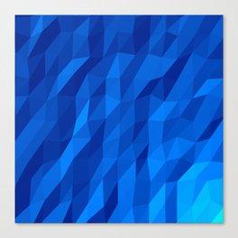 Blue Polygon v1 Canvas Print