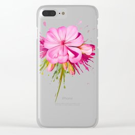 Color Eruption Clear iPhone Case