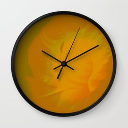 Day Lily Abstract Wall Clock